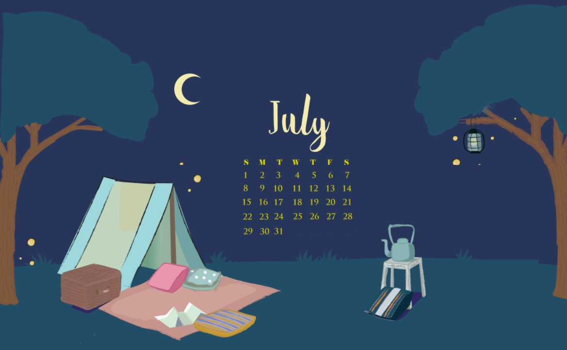 Free July 2018 Calendar Wallpapers