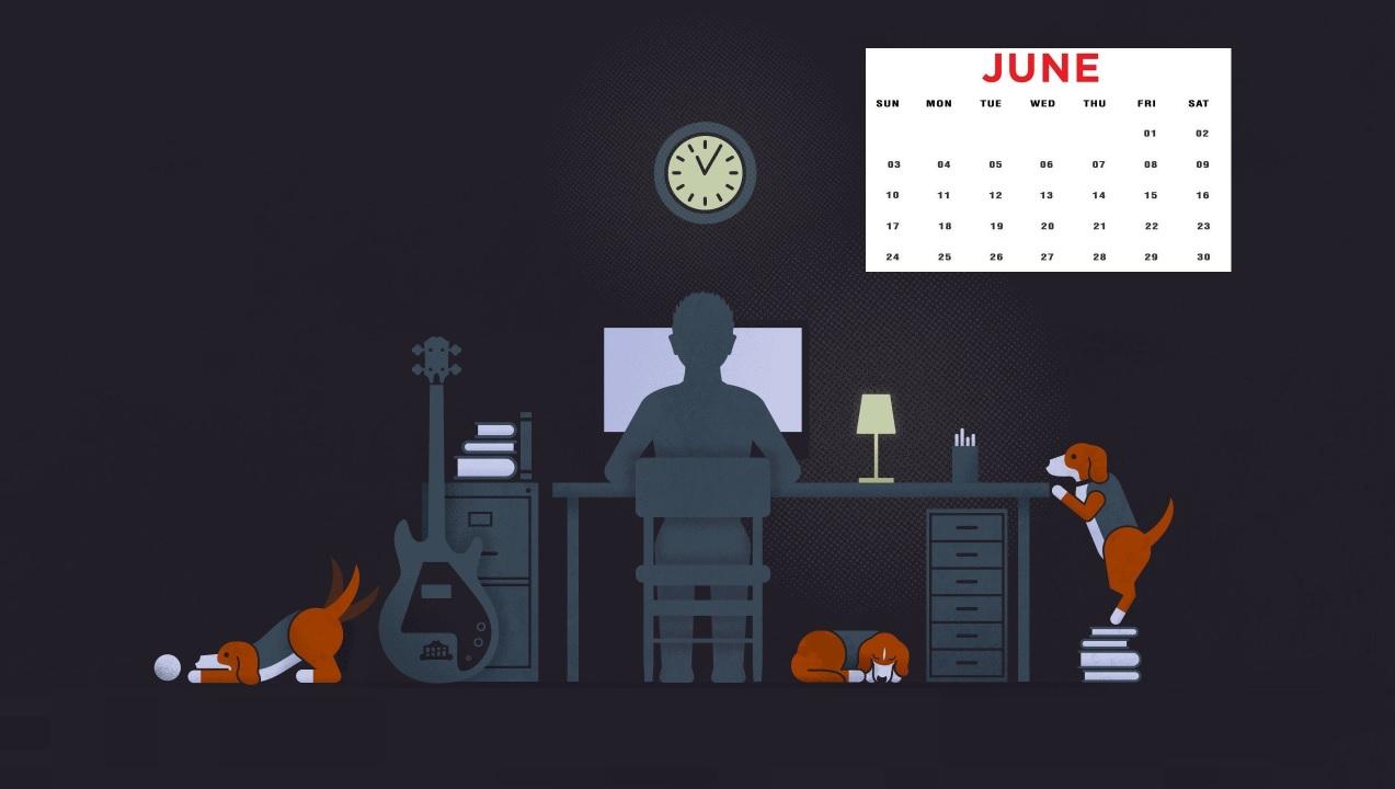 Free June 2018 Calendar Wallpapers