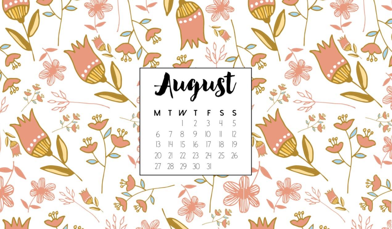 Happy August 2018 Desktop Calendar