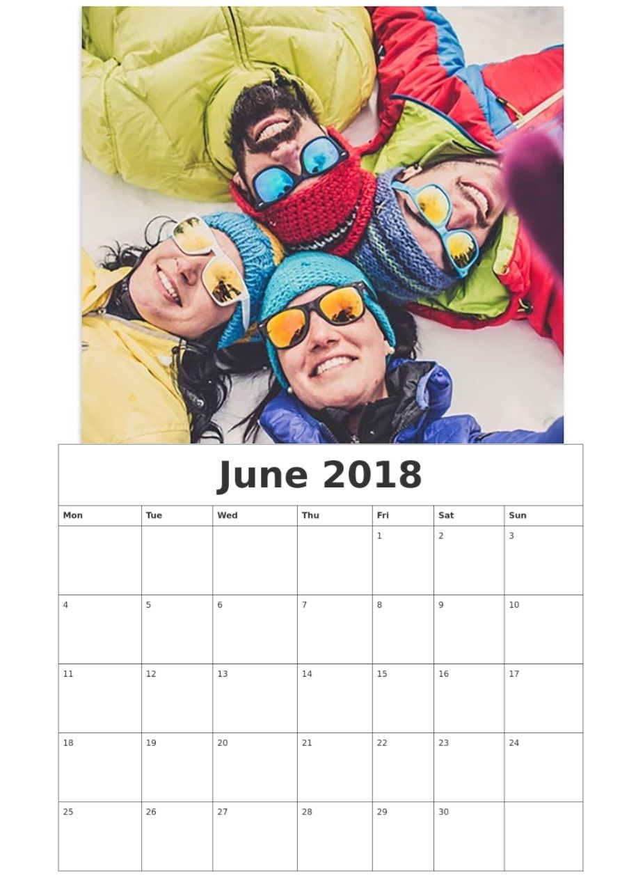 Hello June 2018 Personalized Calendar