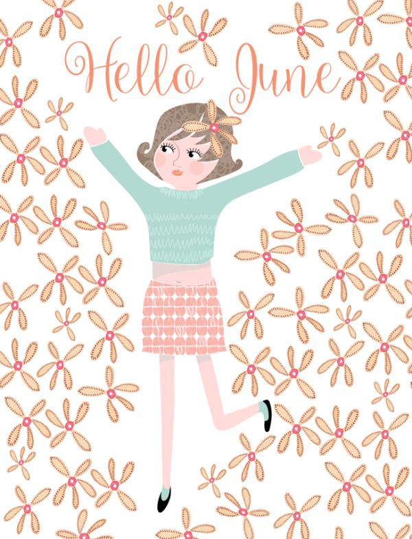 Hello June Flower Images