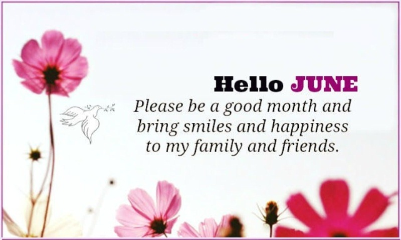 Hello June Quotes For Friends and Family