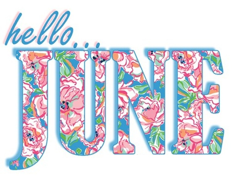Hello June Word Art Images