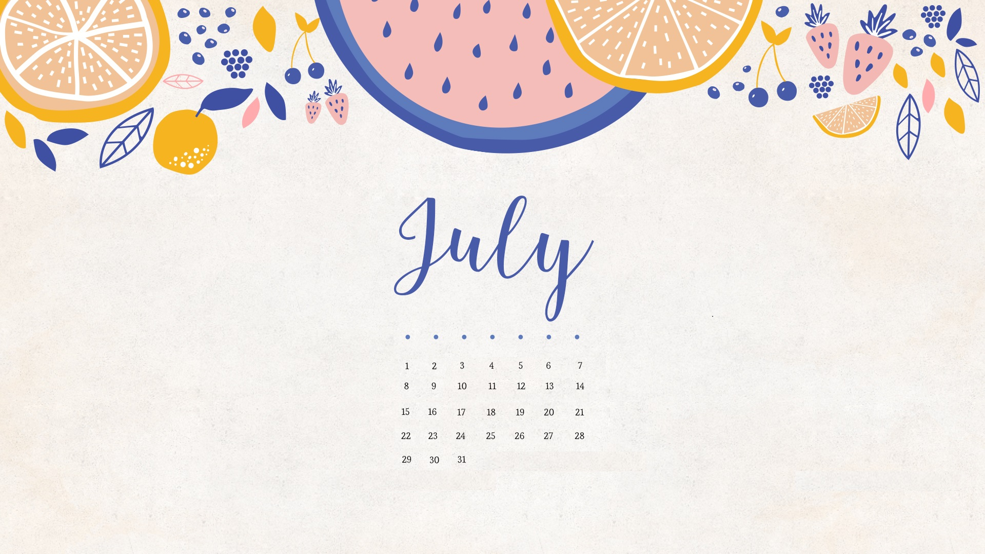 July 2018 Calendar HD Wallpapers