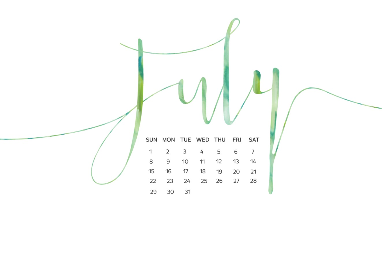 July 2018 Calendar Wallpapers For Background