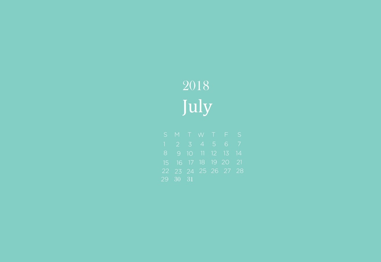 July 2018 Calendar Wallpapers