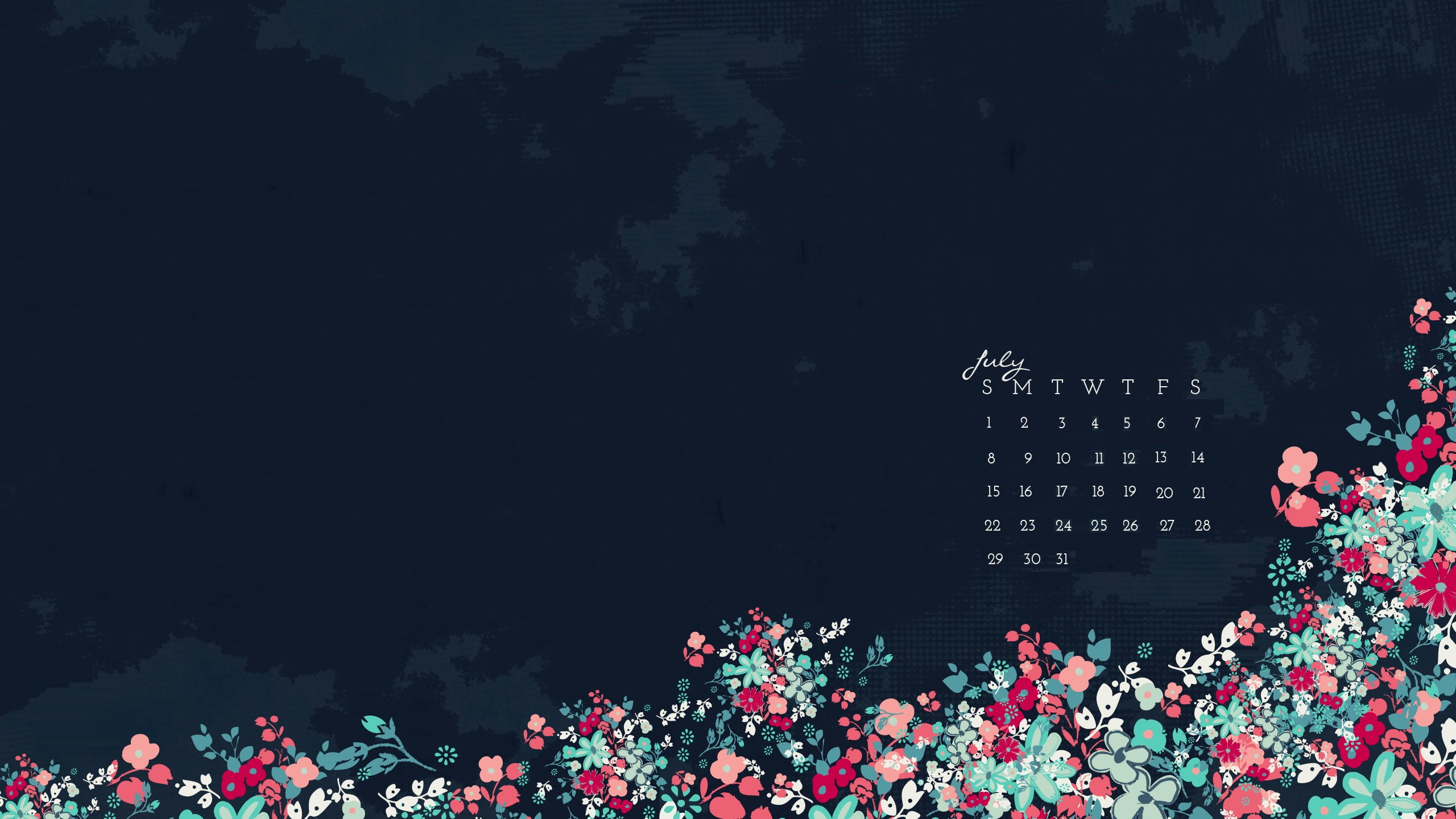 July 2018 Desktop Calendar Wallpapers