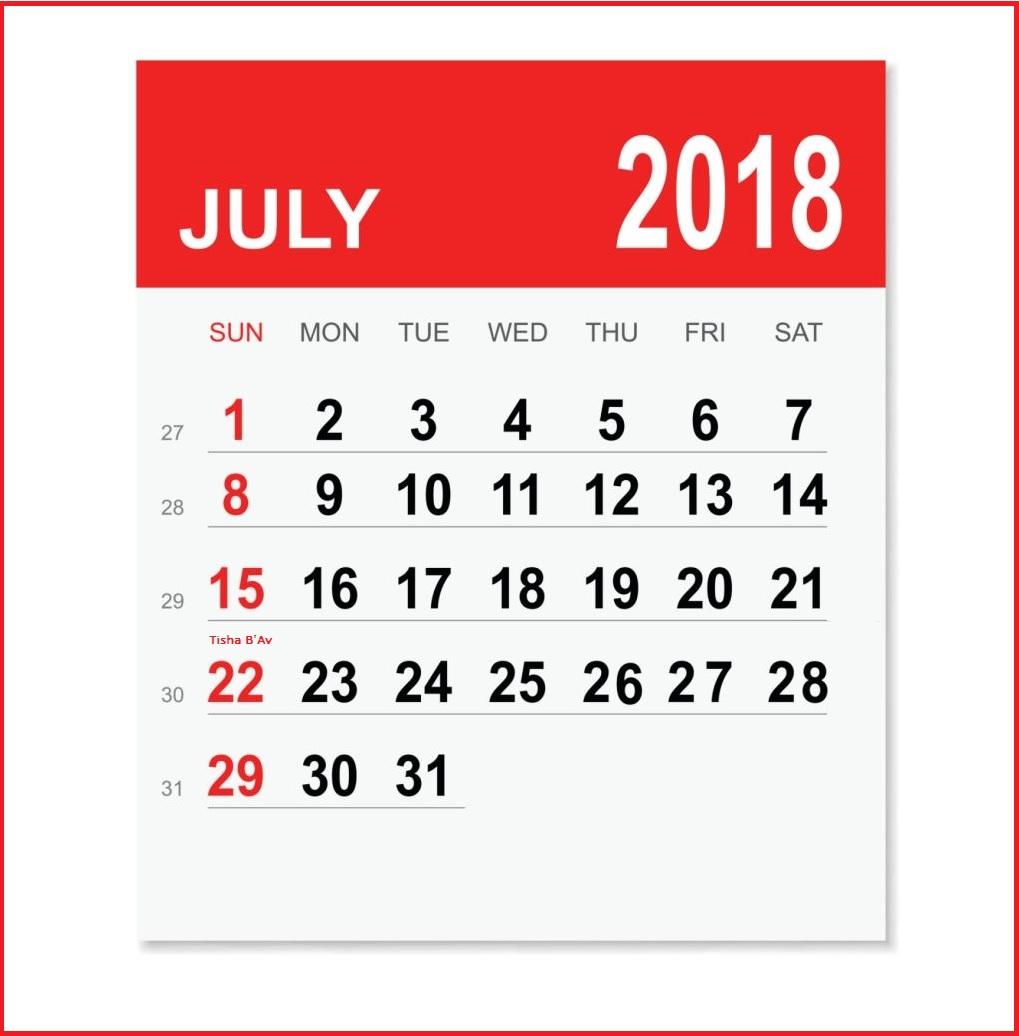 July 2018 Holiday Desk Calendar For Australia