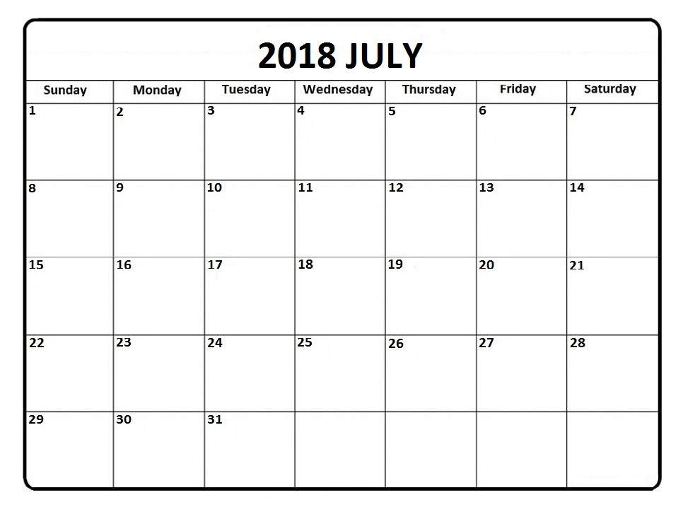 July 2018 Malaysia Calendar with Holidays