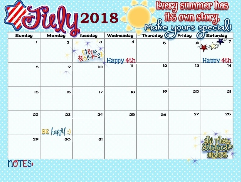 July 2018 Quotes Calendar Download