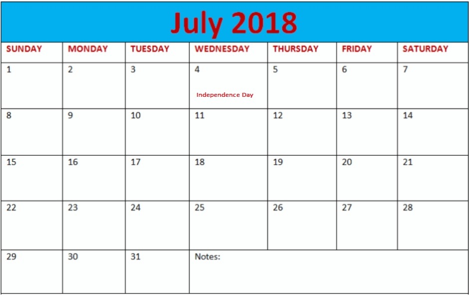 July 2018 Waterproof Calendar Organizer