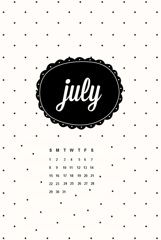 July 2018 iPhone Calendar HD Wallpapers