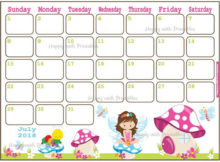 July Calendar Clip Art 2018