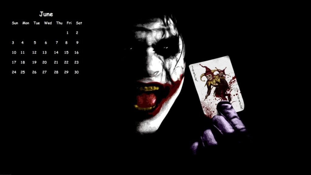 June 2018 Calendar Jocker Wallpapers
