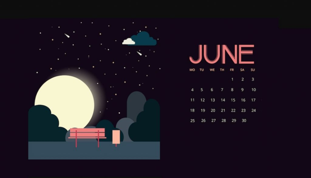 June 2018 Calendar Wallpapers