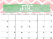 June 2018 Desk Calendar