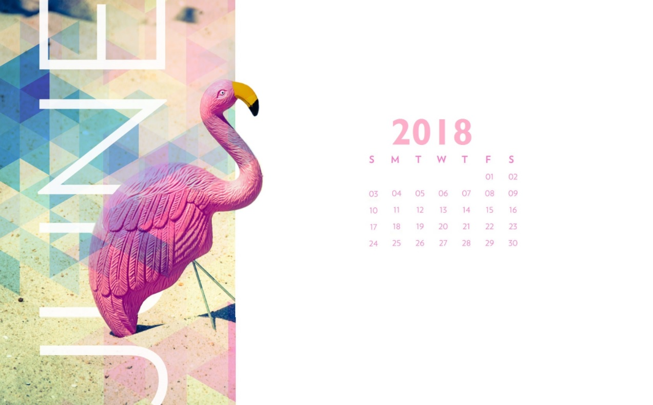 June 2018 Desktop Calendar Wallpapers