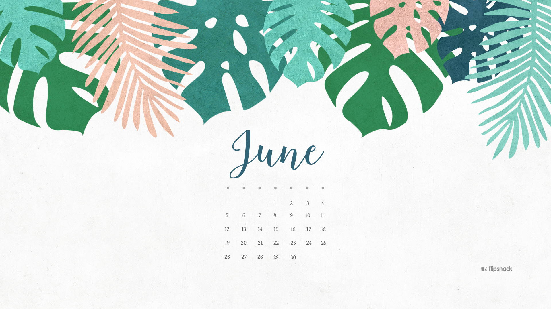 June 2018 Desktop Calendar