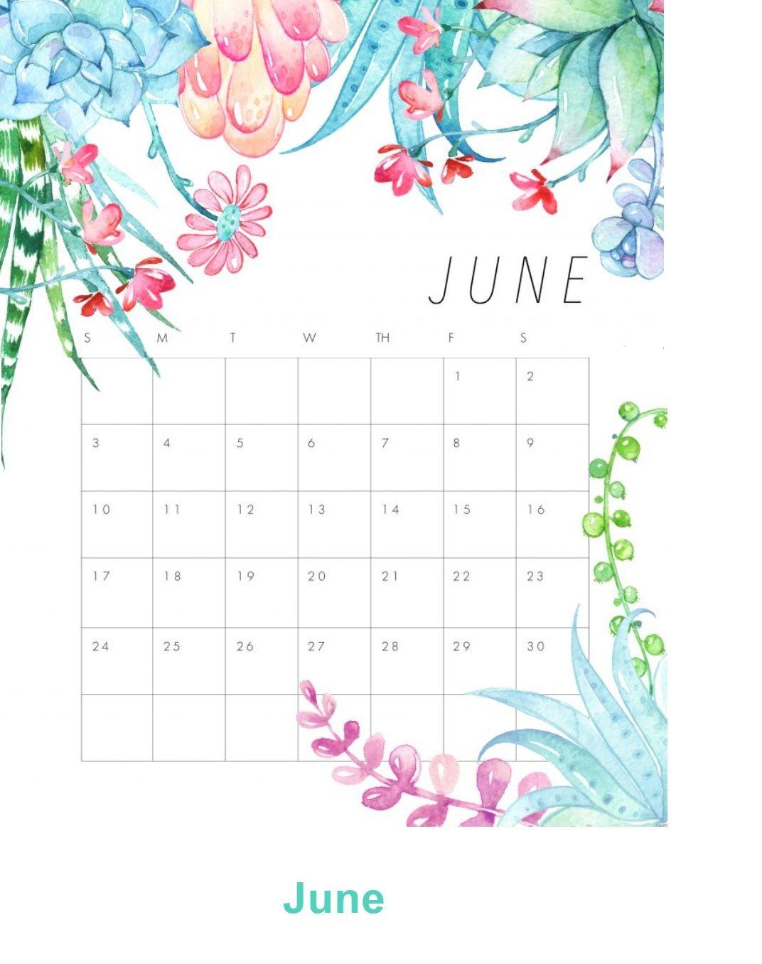 June 2018 Floral Calendar