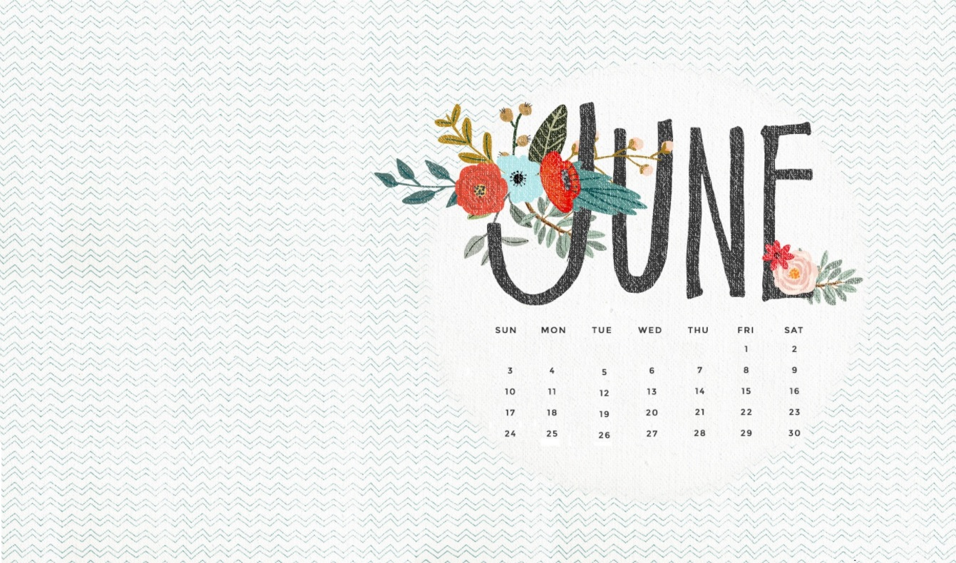 June 2018 HD Calendar Wallpapers