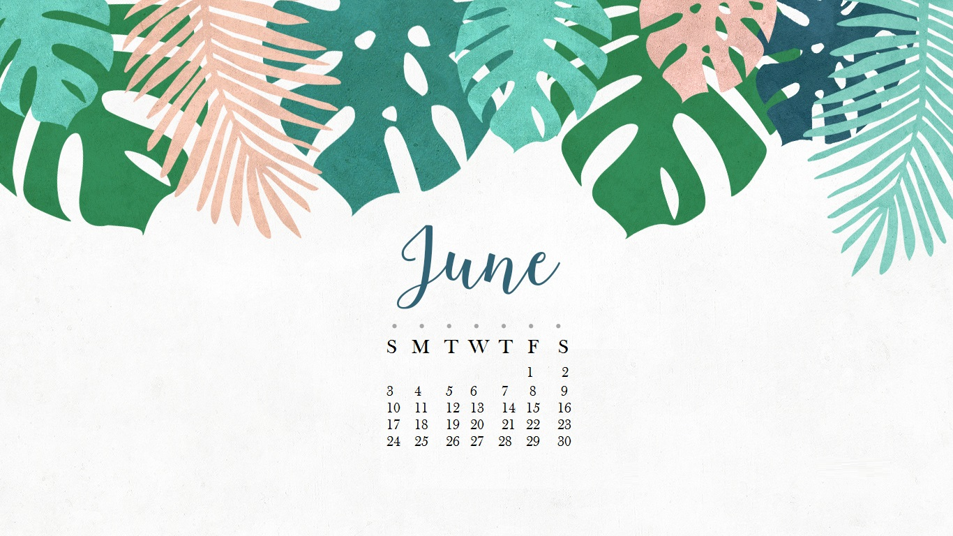 June 2018 HD Calendar for Desktop