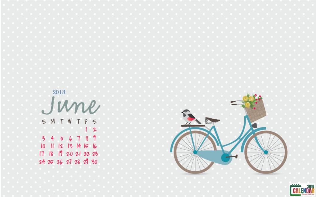 June 2018 HD Wallpaper Calendar