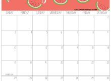 June 2018 Personalized Calendar