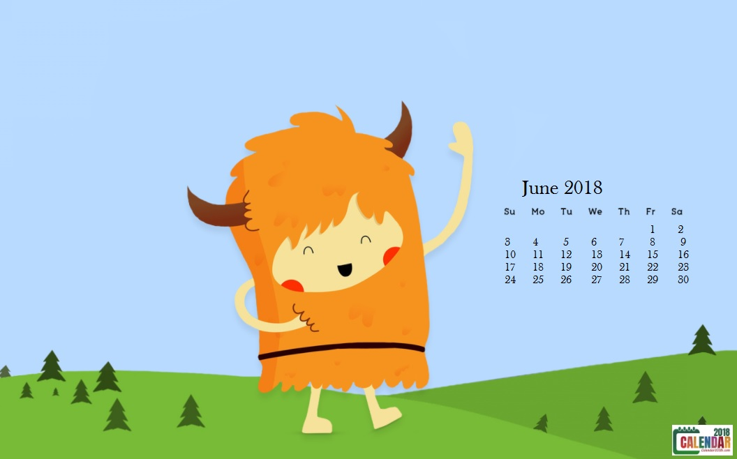 June 2018 Ultimate Desktop Calendar