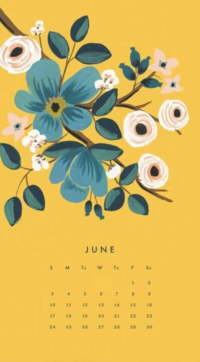 June 2018 iPhone Calendar Wallpapers