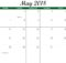 May 2018 Calendar Word