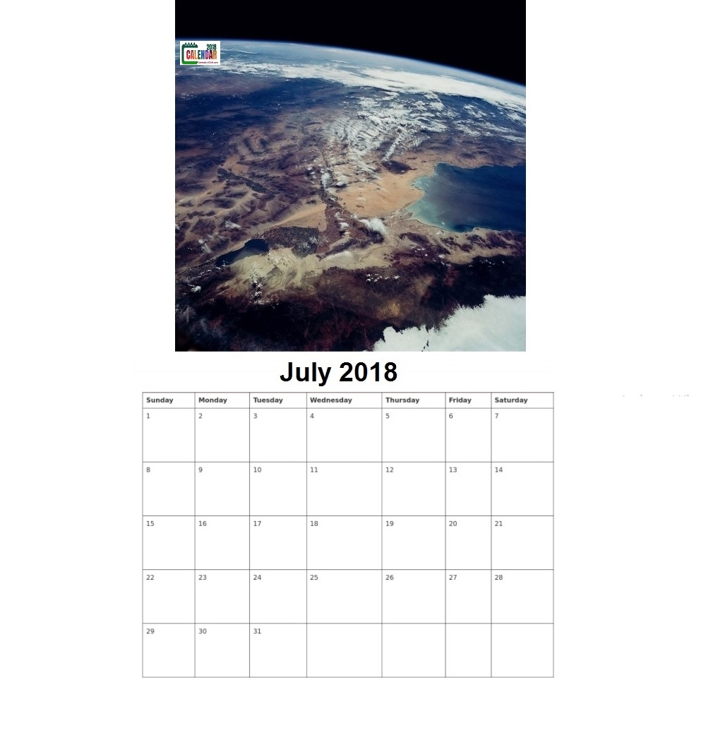 Personalized July 2018 Earth and Space Template