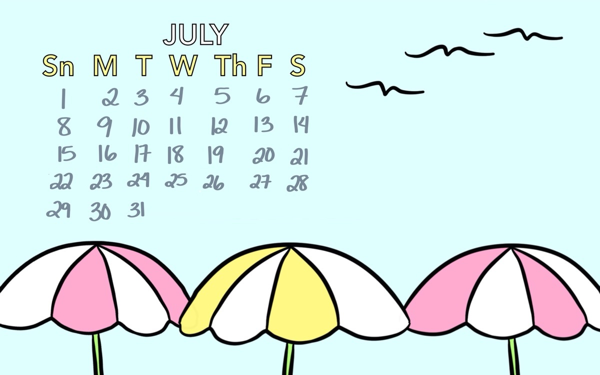 Printable July 2018 Calendar Wallpapers