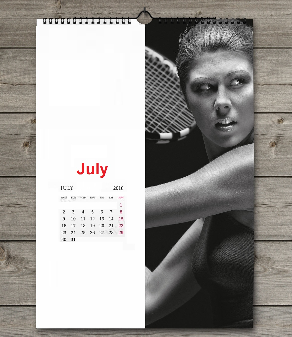 Printable July 2018 Sports Wall Calendar