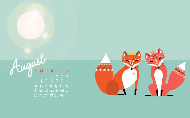 Sweet August 2018 Desktop Calendar