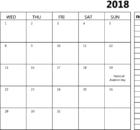 August 2018 Calendar Printable With Holidays