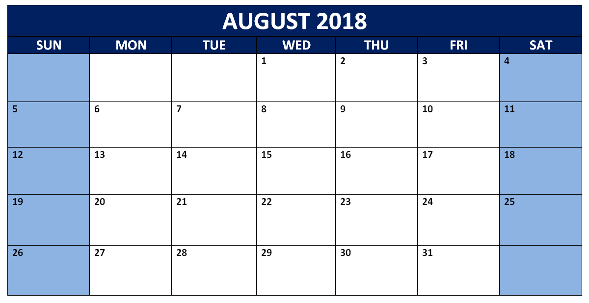 August 2018 France Calendar with Holidays