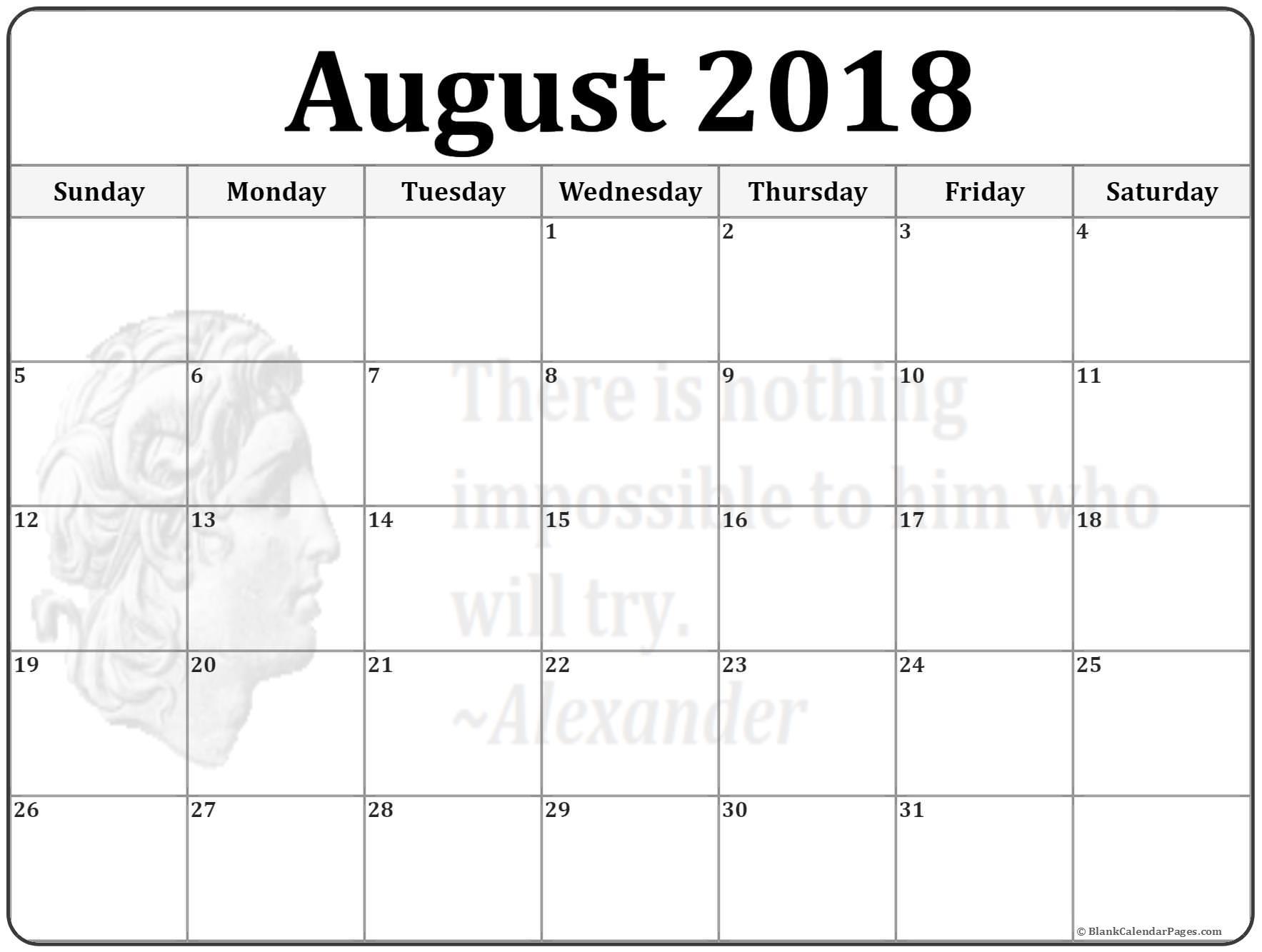 August 2018 New Zealand Calendar