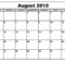 August Calendar 2018 South Africa