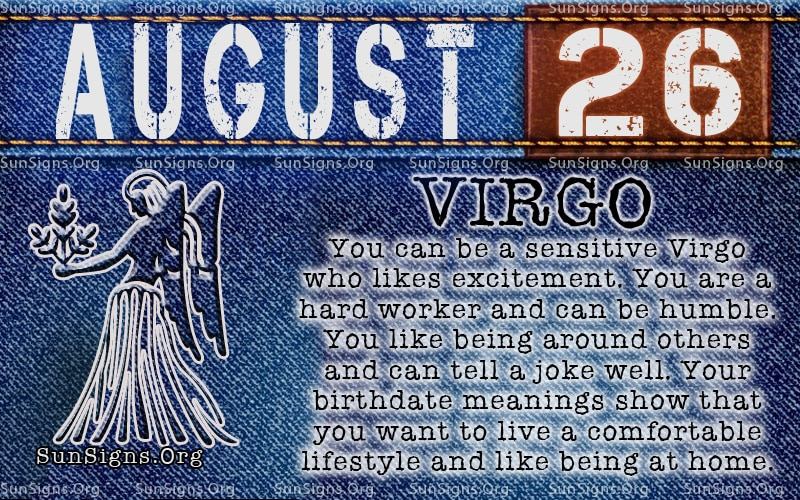 August Zodiac Sign Virgo