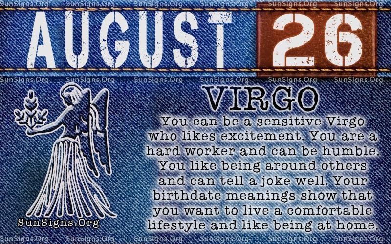 August Zodiac Sign Virgo