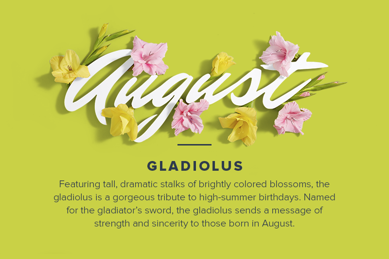 Birth Month Flowers August