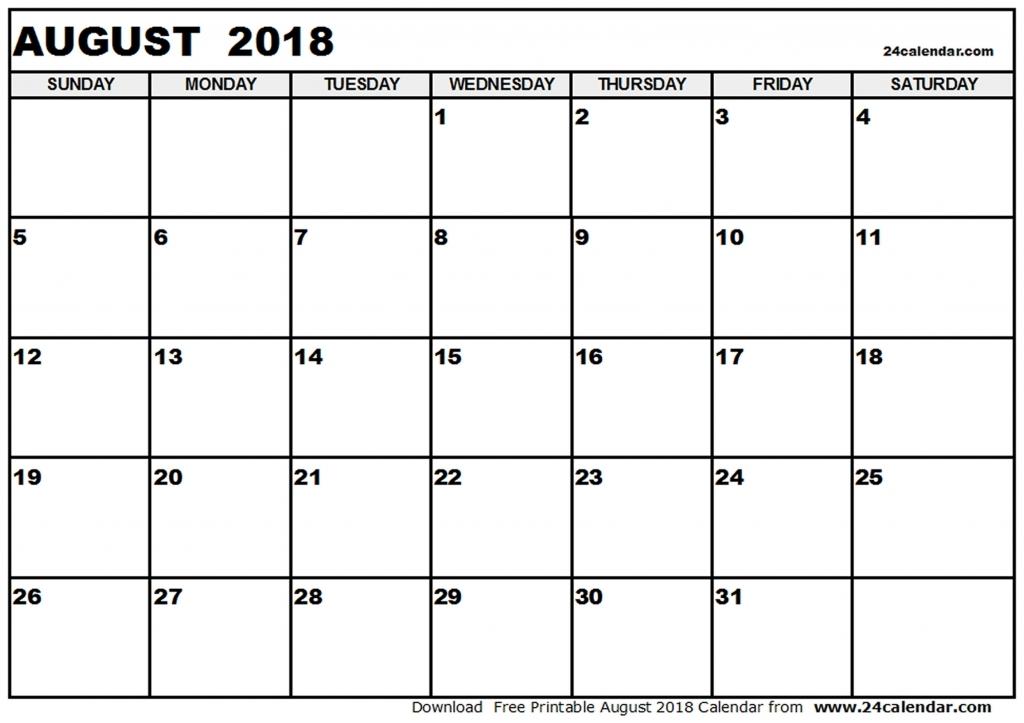 Calendar August 2018 Malaysia