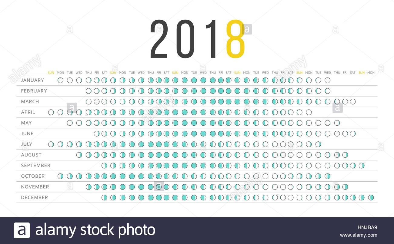 Calendar August 2018 Moon Phases
