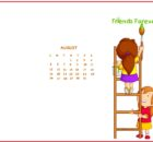 Cute August 2018 Calendar Wallpaper
