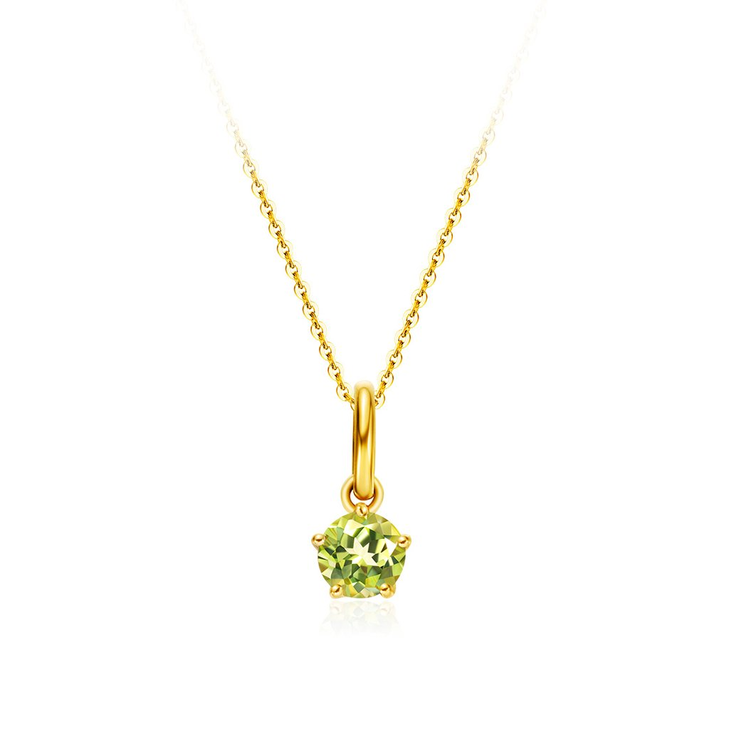 Delicate August Birthstone Peridot Neclace