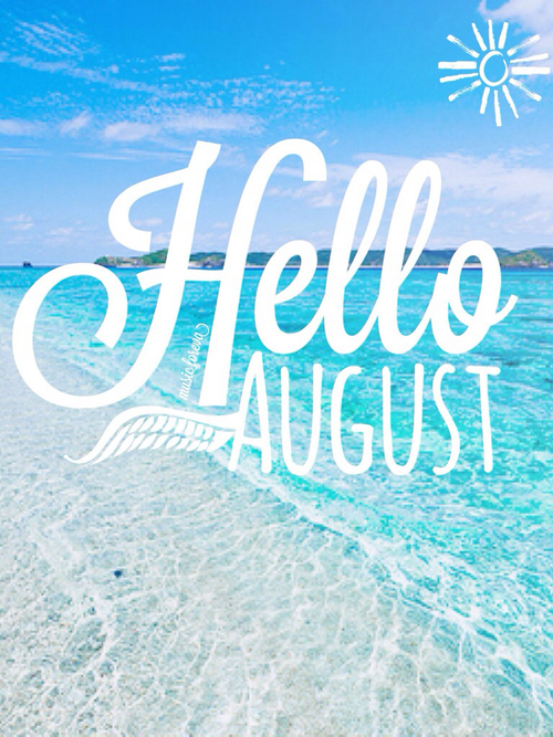 Hello August Beach Pictures