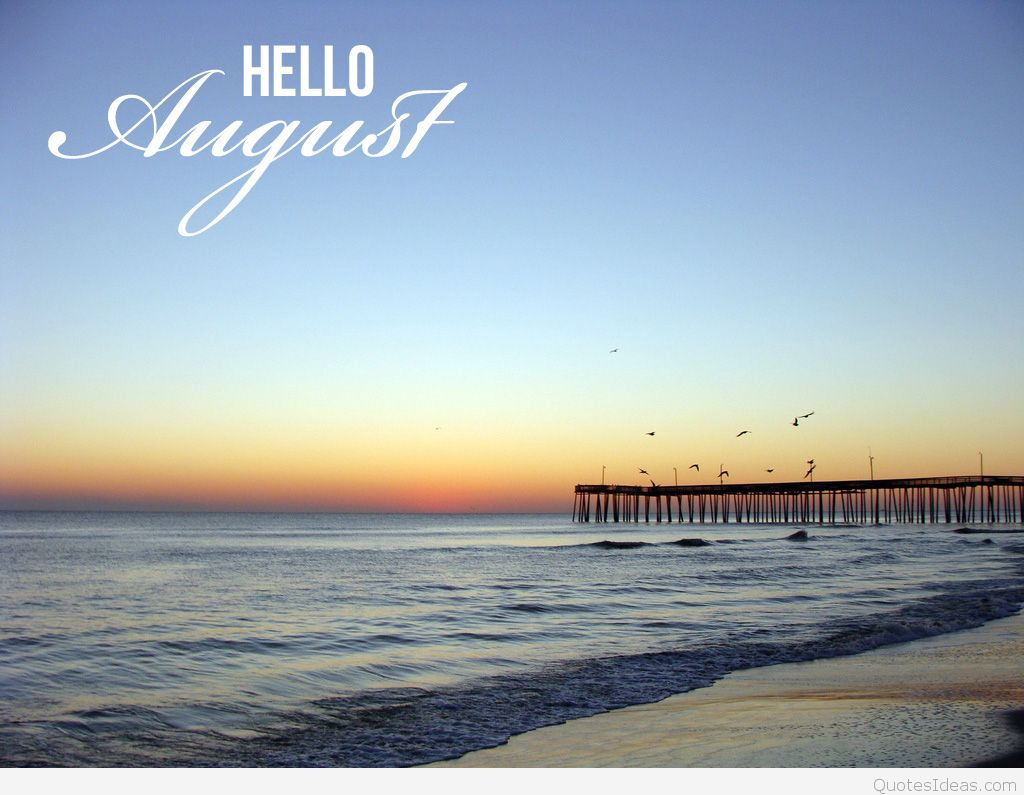 Hello August Free Images