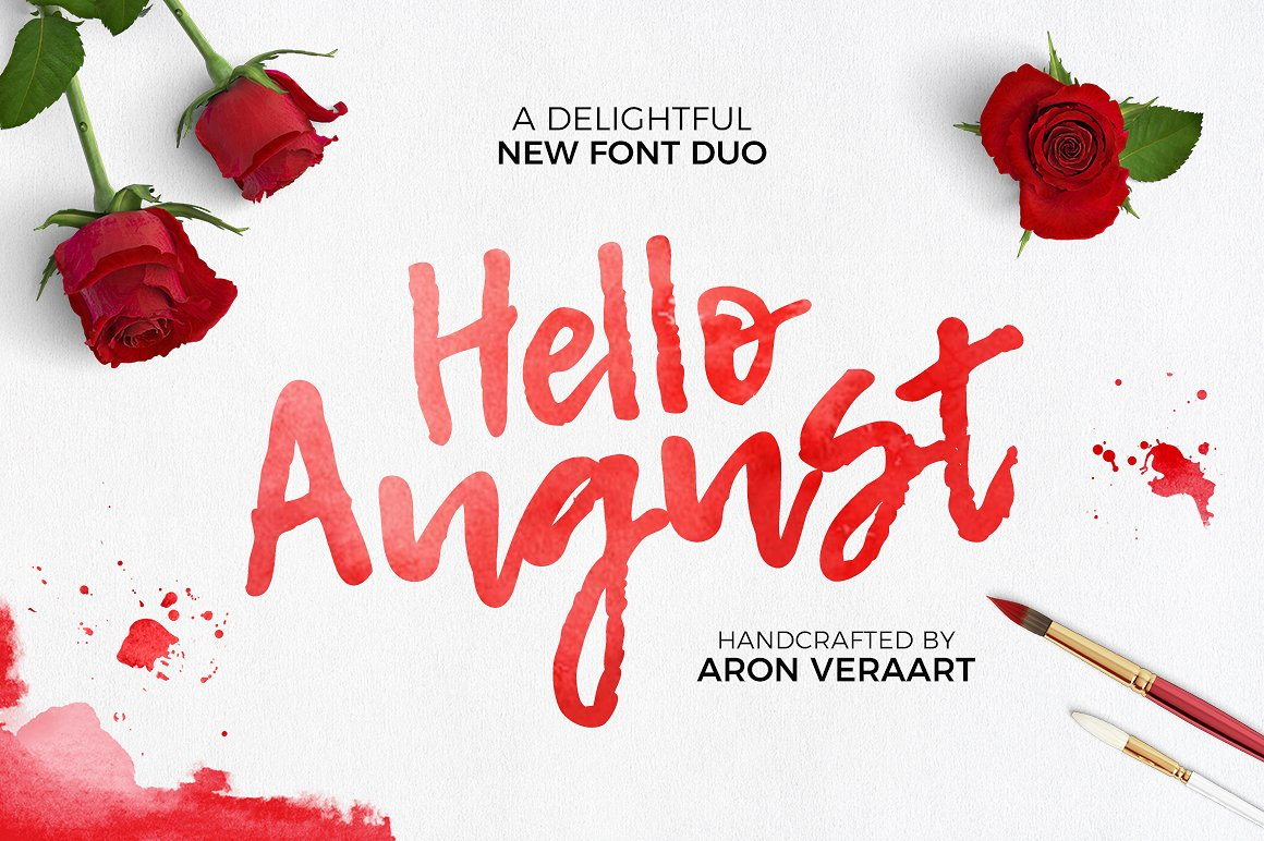 Hello August Images Font Duo