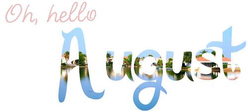 Hello August Photos Animated
