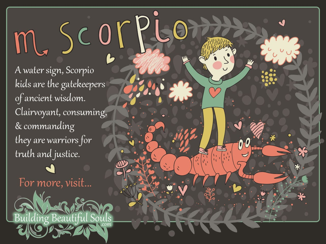 Scorpio Child Zodiac Signs For Kids 1280x960